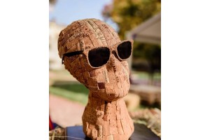 "Sculpture of wine cork ""The silence of wine"""