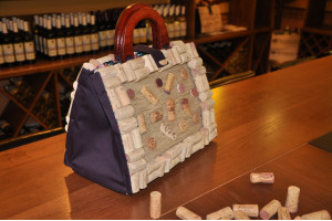 Cork bag with inserts