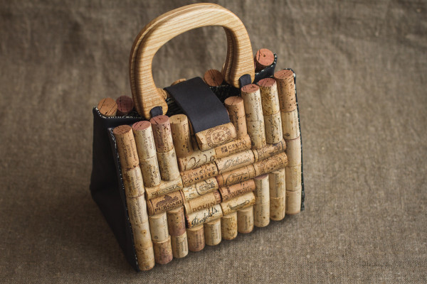 Handmade cork bag