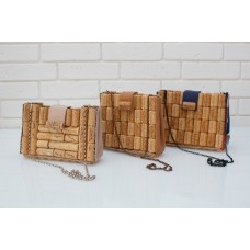 Handmade clutch bag made of wine cork for every day