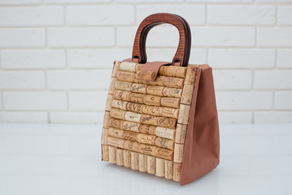 Bag for wine lovers, women bag from cork, stylish eco accessory