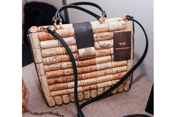 Designer bag made of cork, exclusive bag, ЄKO bag, Handmade bag, bag of cork and leather